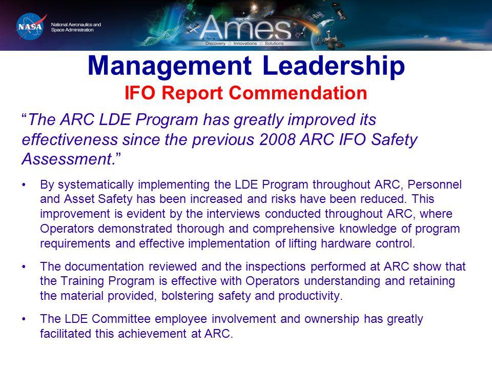 Management Leadership IFO Report Commendation