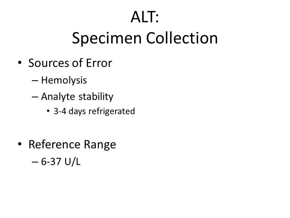 ALT: Specimen Collection