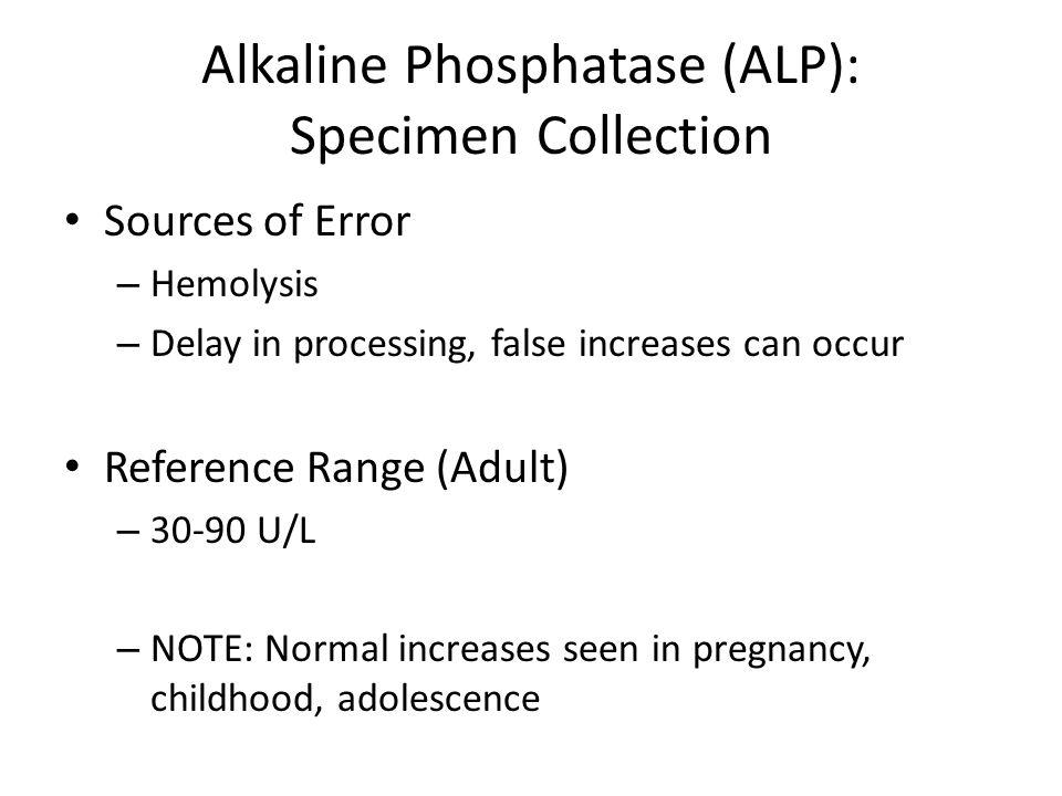 Alkaline Phosphatase (ALP): Specimen Collection