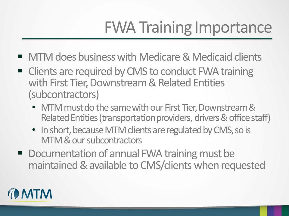 FWA Training Importance
