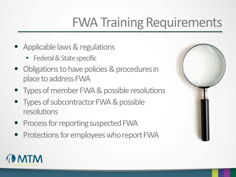 FWA Training Requirements