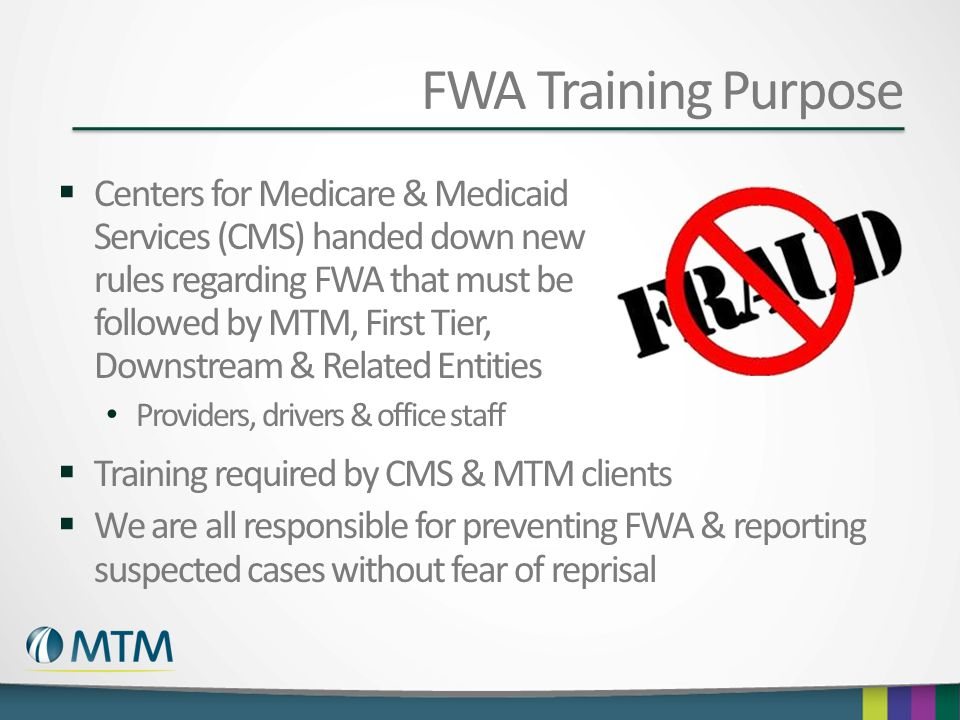 FWA Training Purpose
