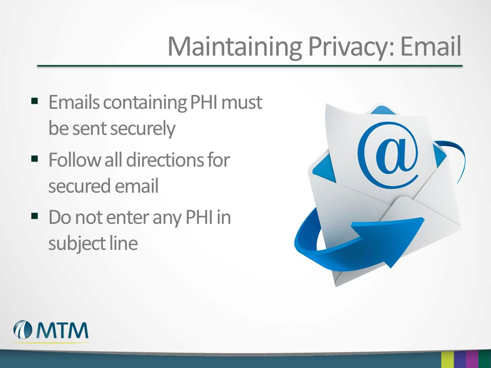 Maintaining Privacy: Email