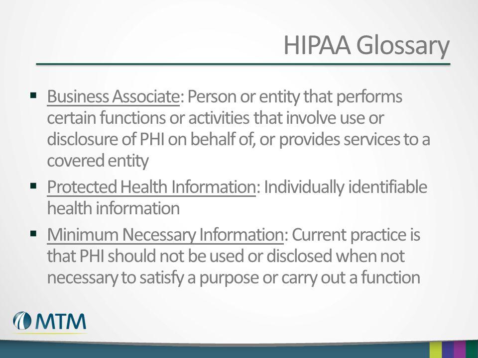 HIPAA Glossary