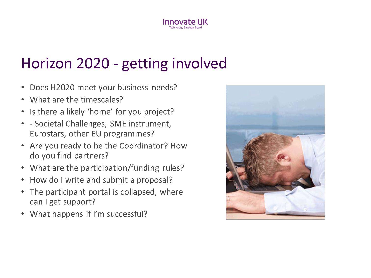 Horizon 2020 - getting involved