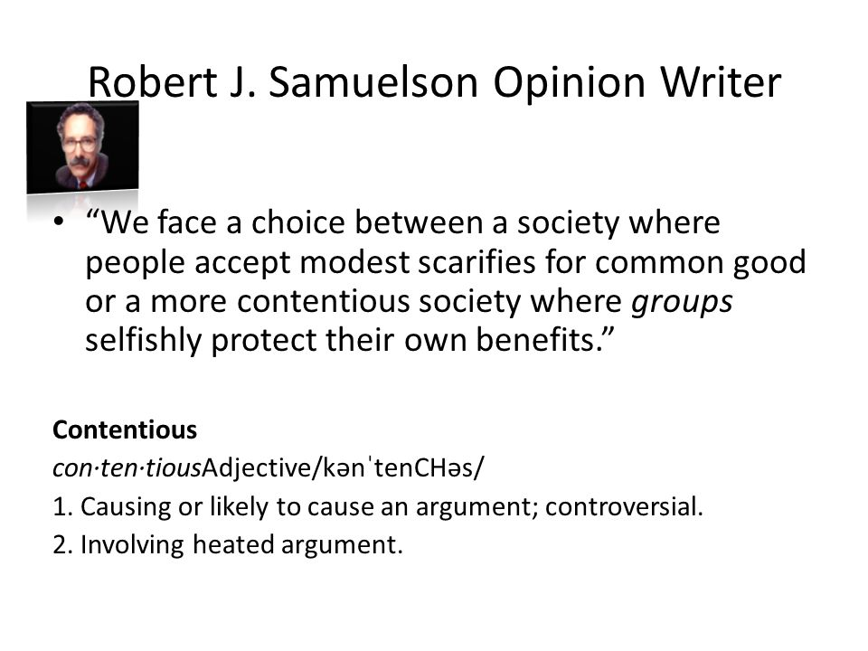 Robert J. Samuelson Opinion Writer