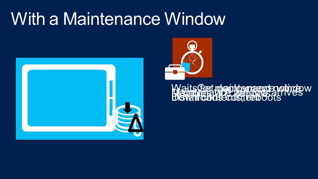 With a Maintenance Window