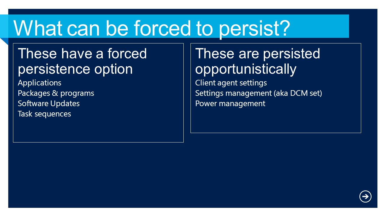 What can be forced to persist