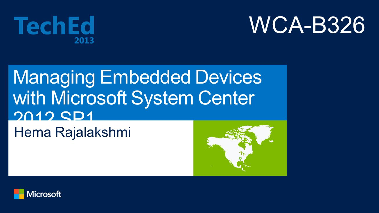 Managing Embedded Devices with Microsoft System Center 2012 SP1