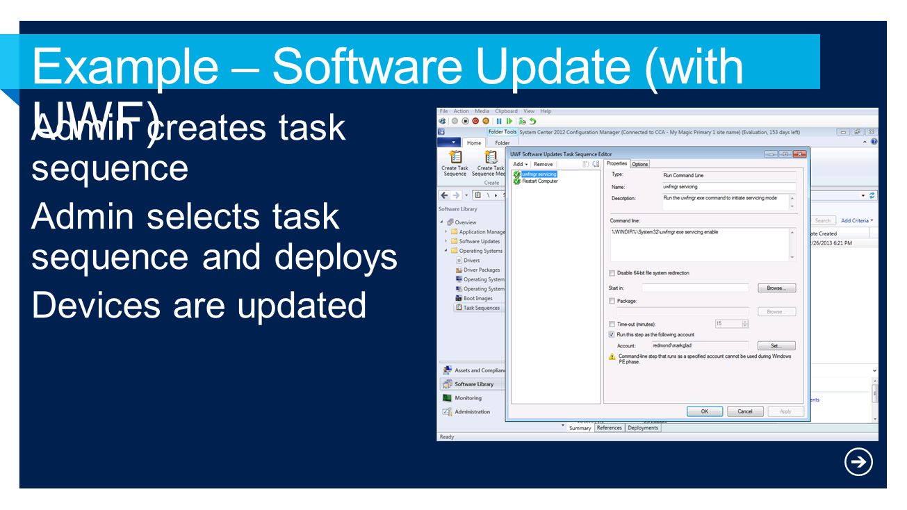 Example – Software Update (with UWF)
