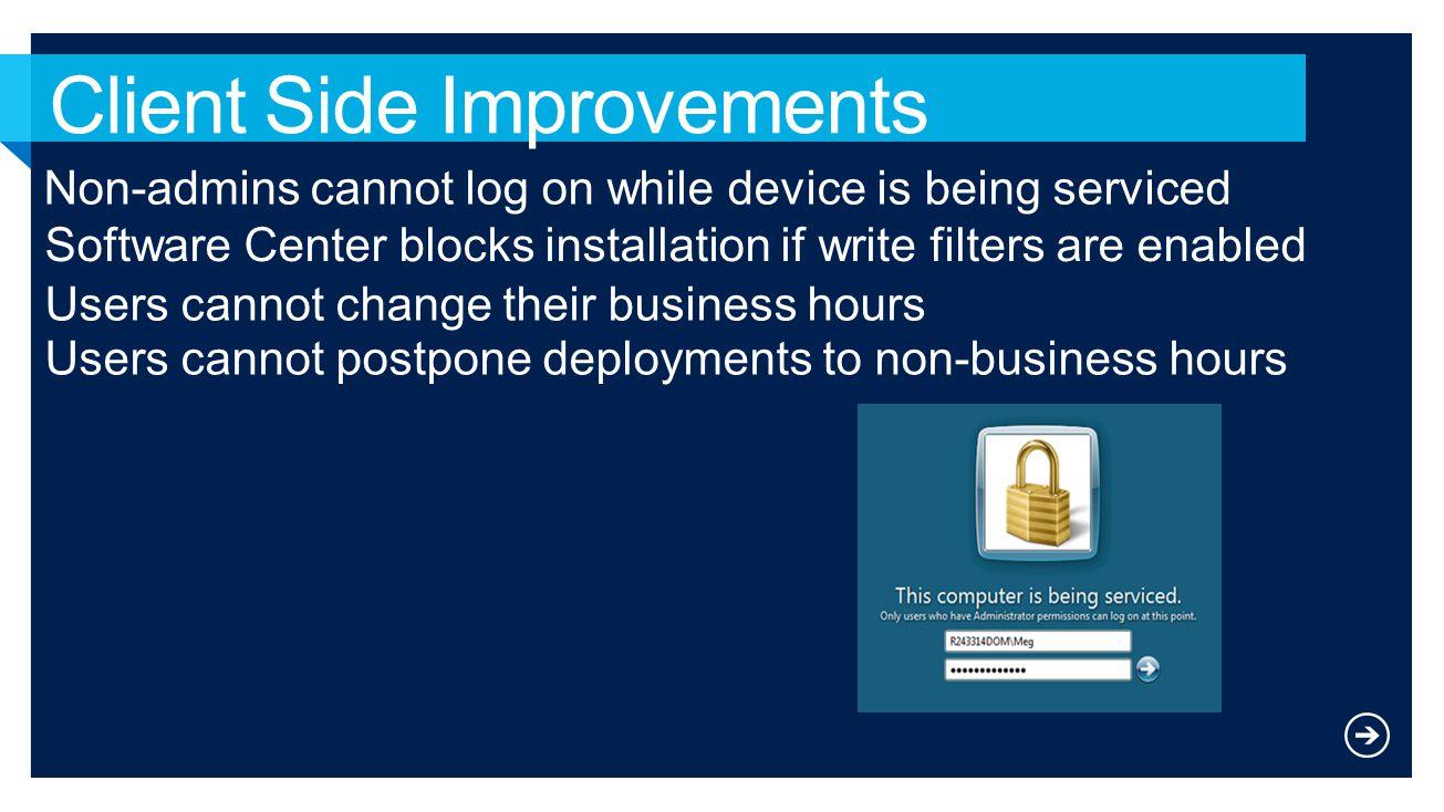 Client Side Improvements