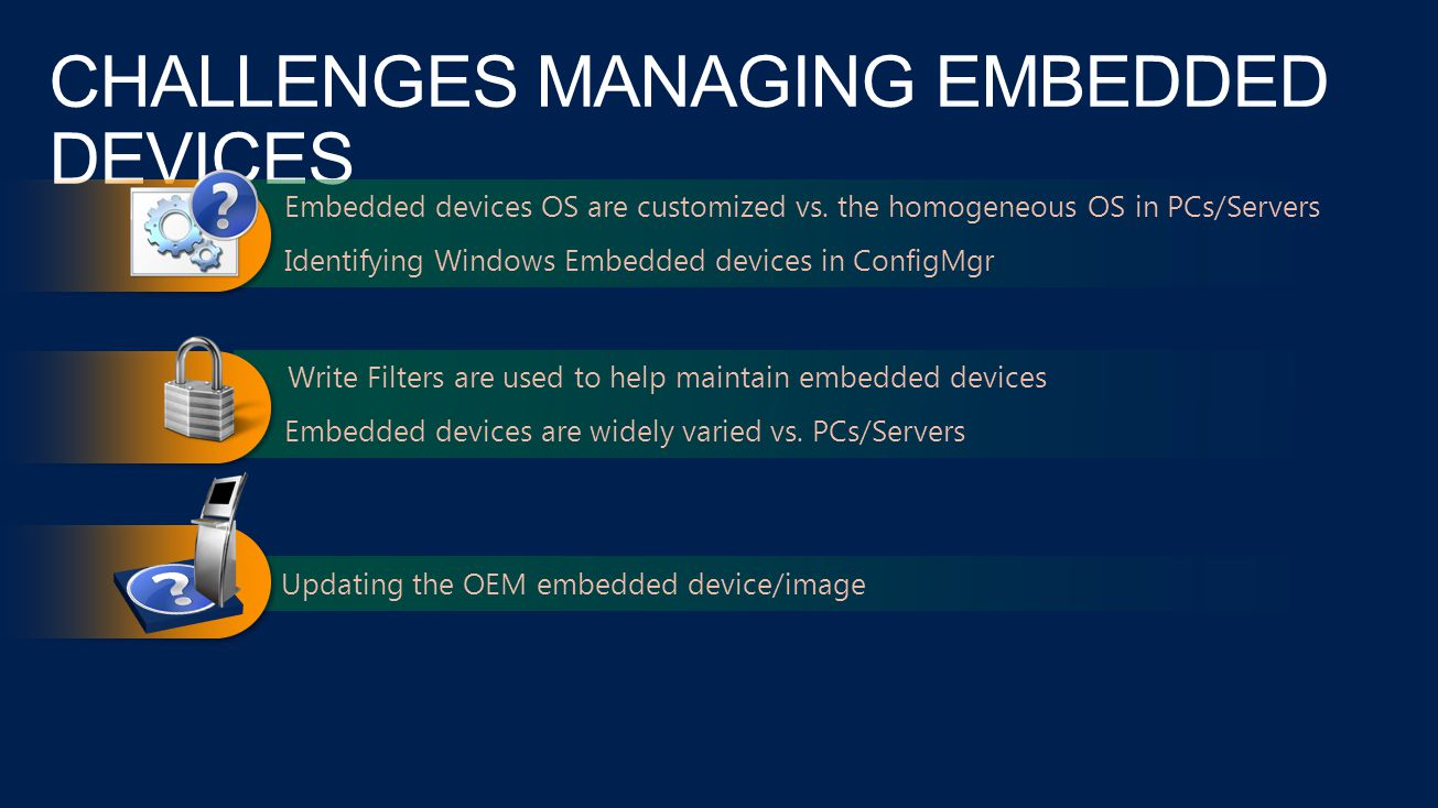 CHALLENGES MANAGING EMBEDDED DEVICES