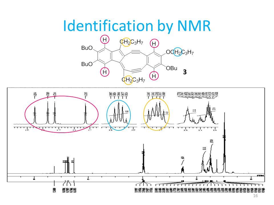 Identification by NMR 3 渡環環化反応後の化合物を同定しました。