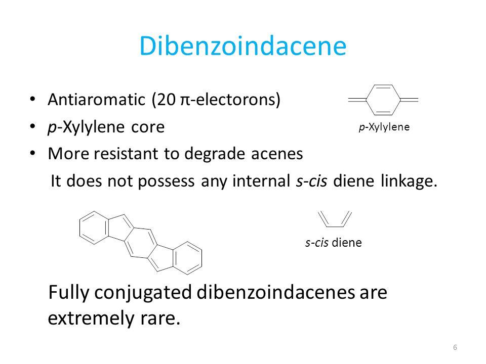 Dibenzoindacene Antiaromatic (20 π-electorons) p-Xylylene core
