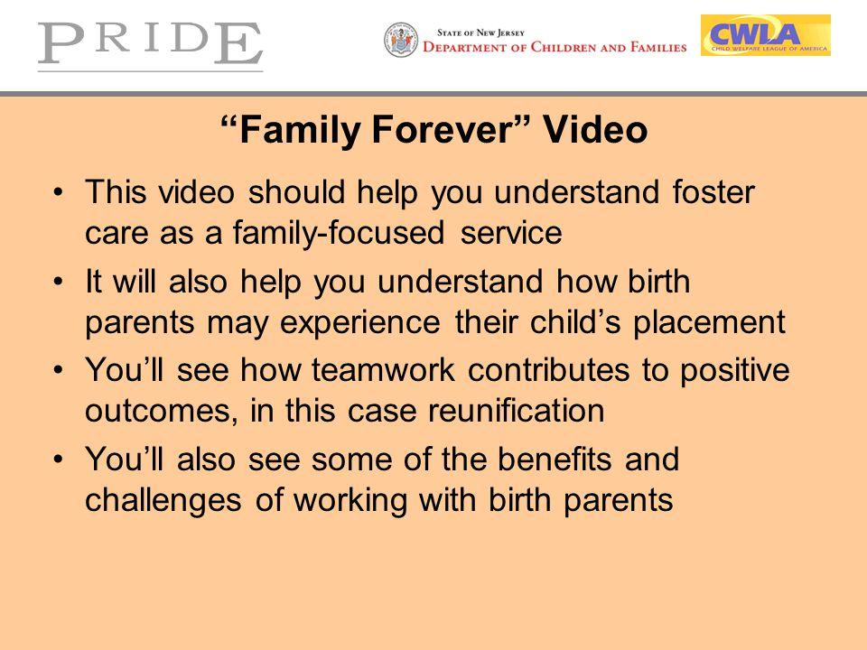 Family Forever Video