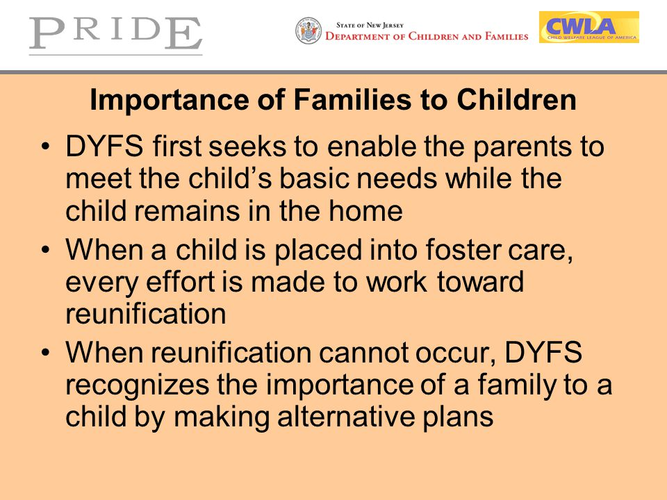 Importance of Families to Children