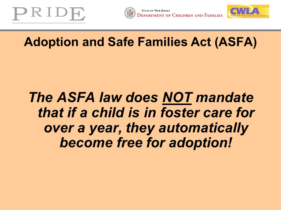 the adoption and safe families act essay This example adoption and safe families act of 1997 essay is published for educational and informational purposes only if you need a custom essay or research paper.