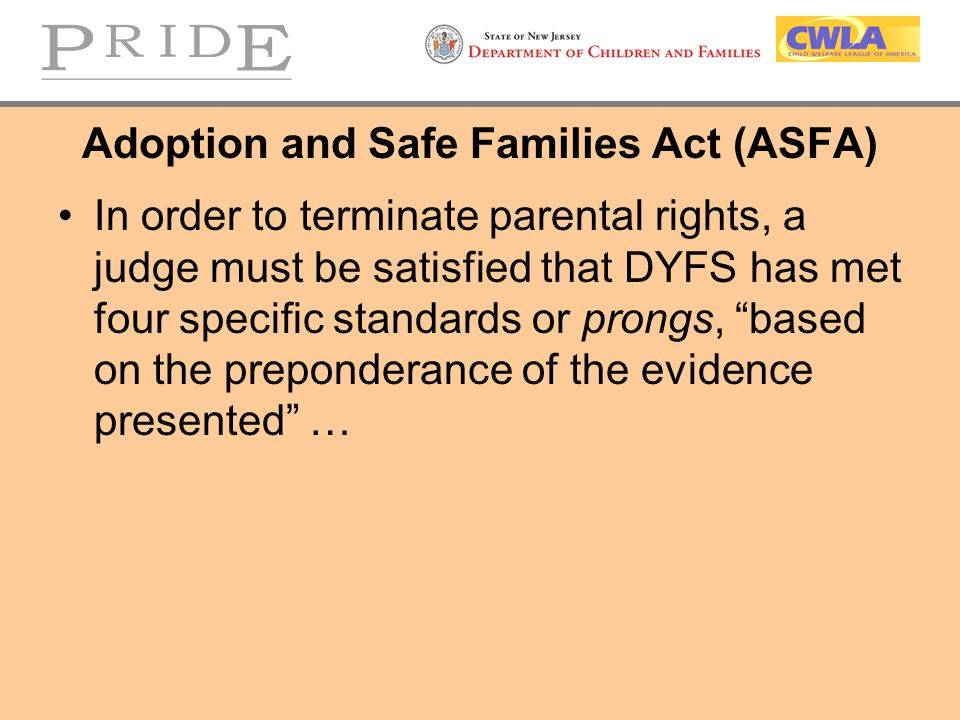 Federal Legislation Can Remove Adoption Barriers