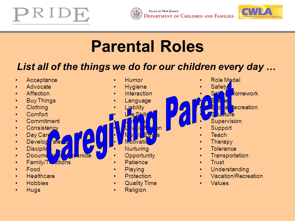 List all of the things we do for our children every day …