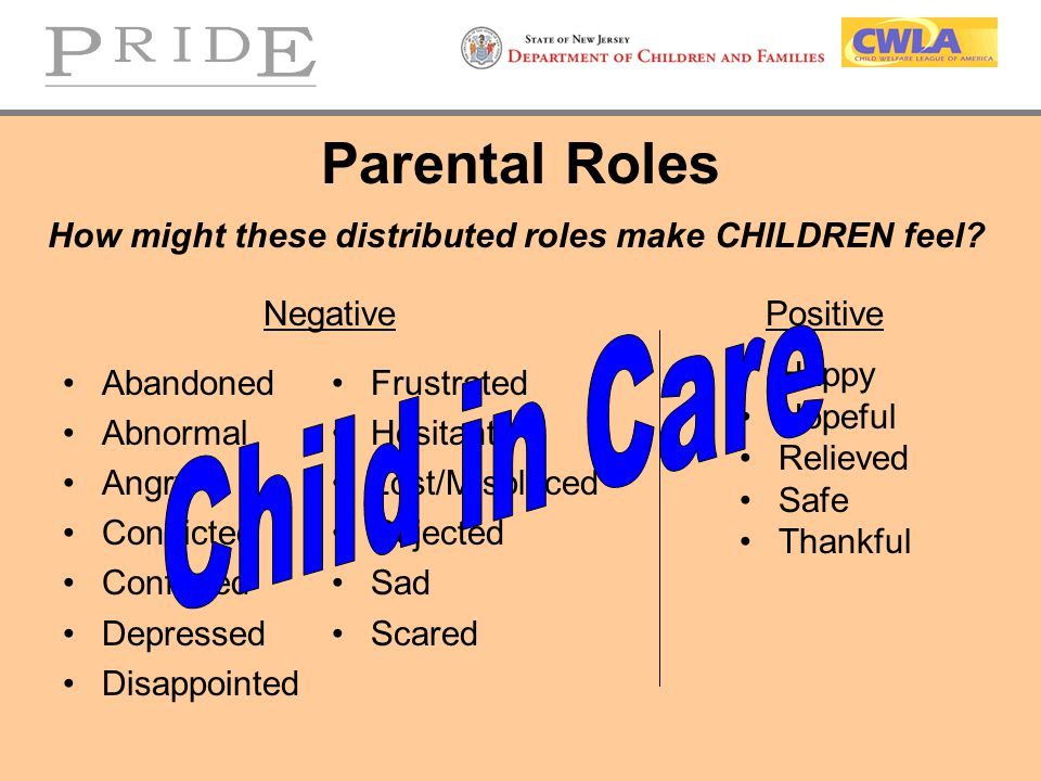 How might these distributed roles make CHILDREN feel