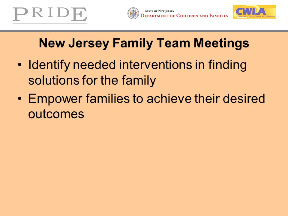 New Jersey Family Team Meetings