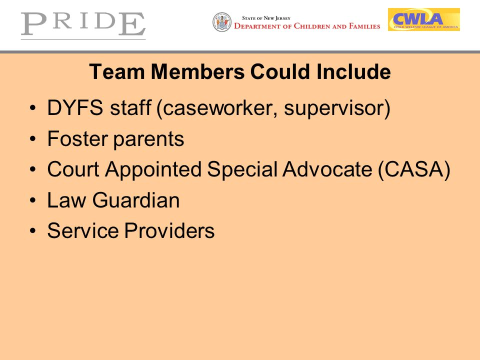 Team Members Could Include