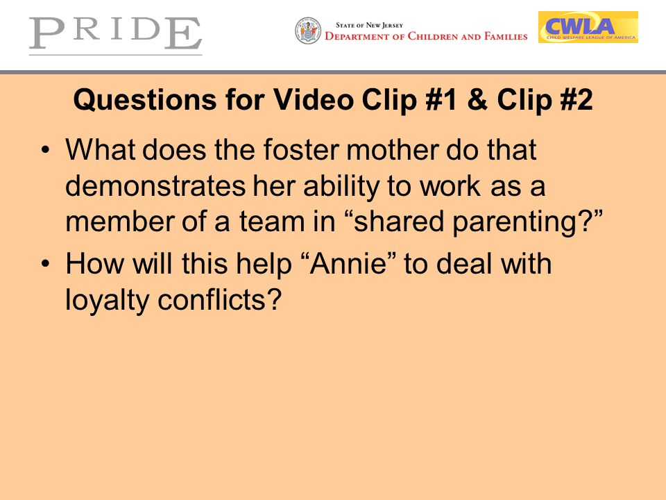 Questions for Video Clip #1 & Clip #2