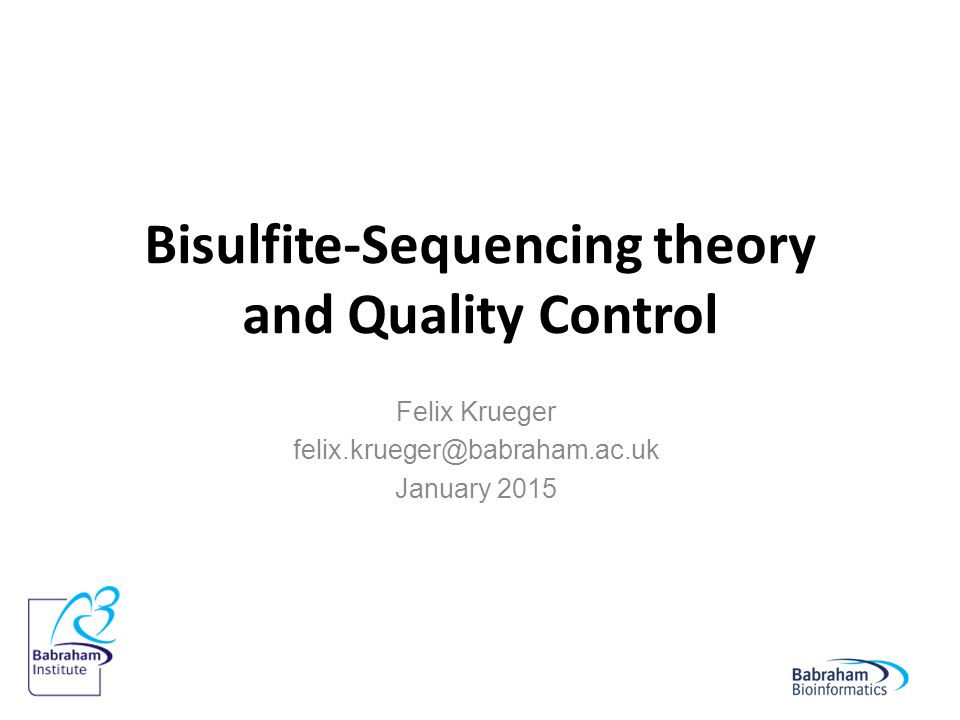 Bisulfite-Sequencing theory and Quality Control