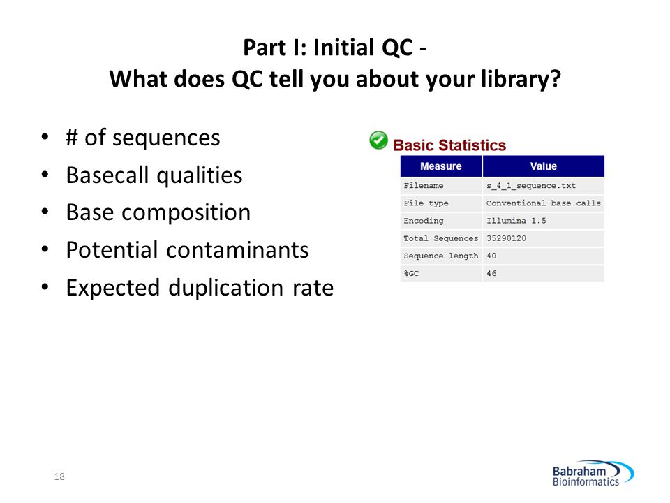 Part I: Initial QC - What does QC tell you about your library