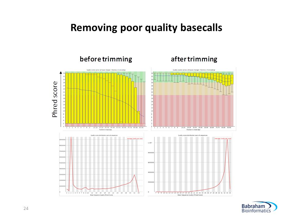 Removing poor quality basecalls