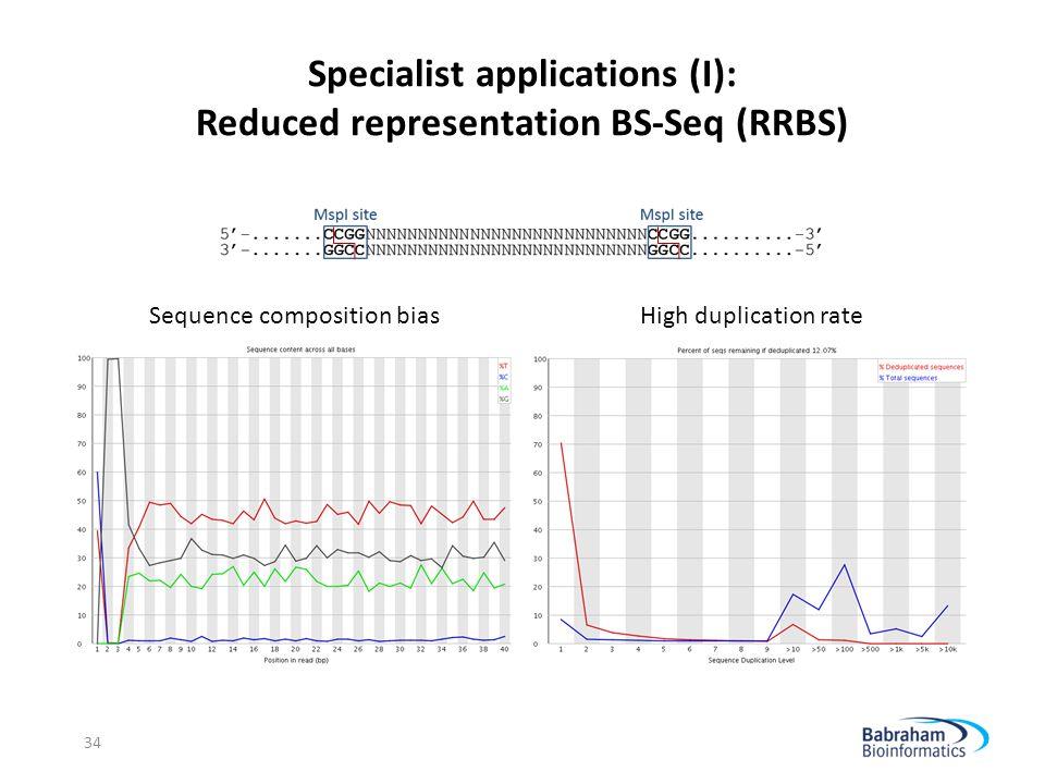 Specialist applications (I): Reduced representation BS-Seq (RRBS)
