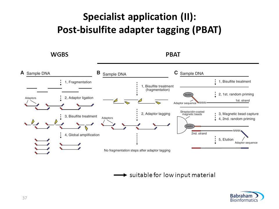 Specialist application (II): Post-bisulfite adapter tagging (PBAT)