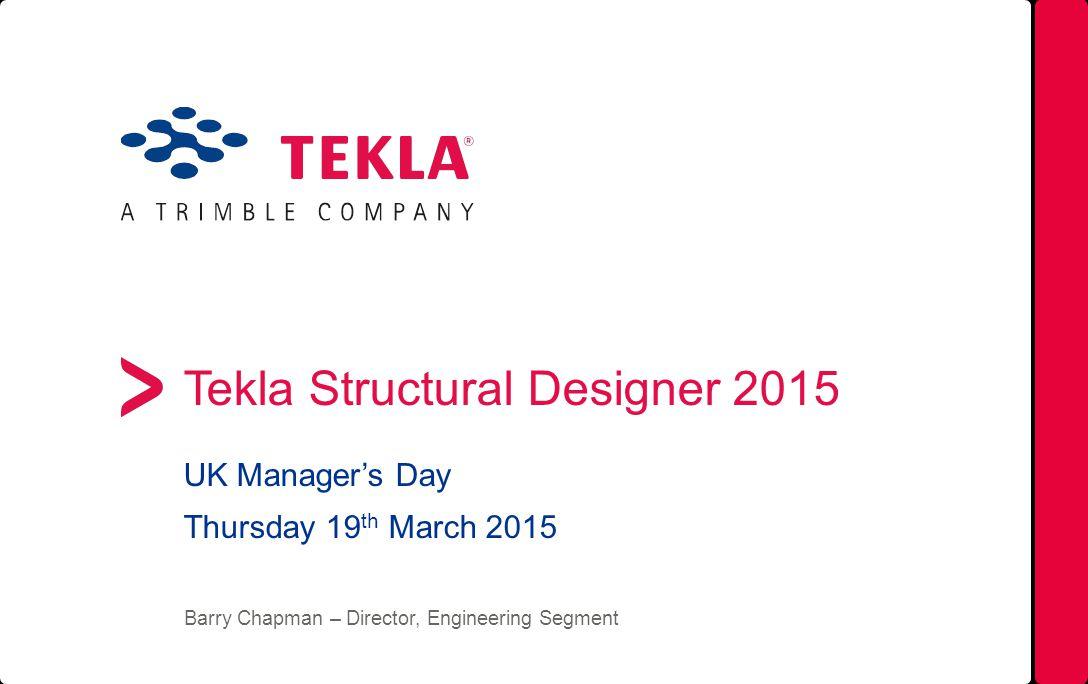 Tekla Structural Designer 2015