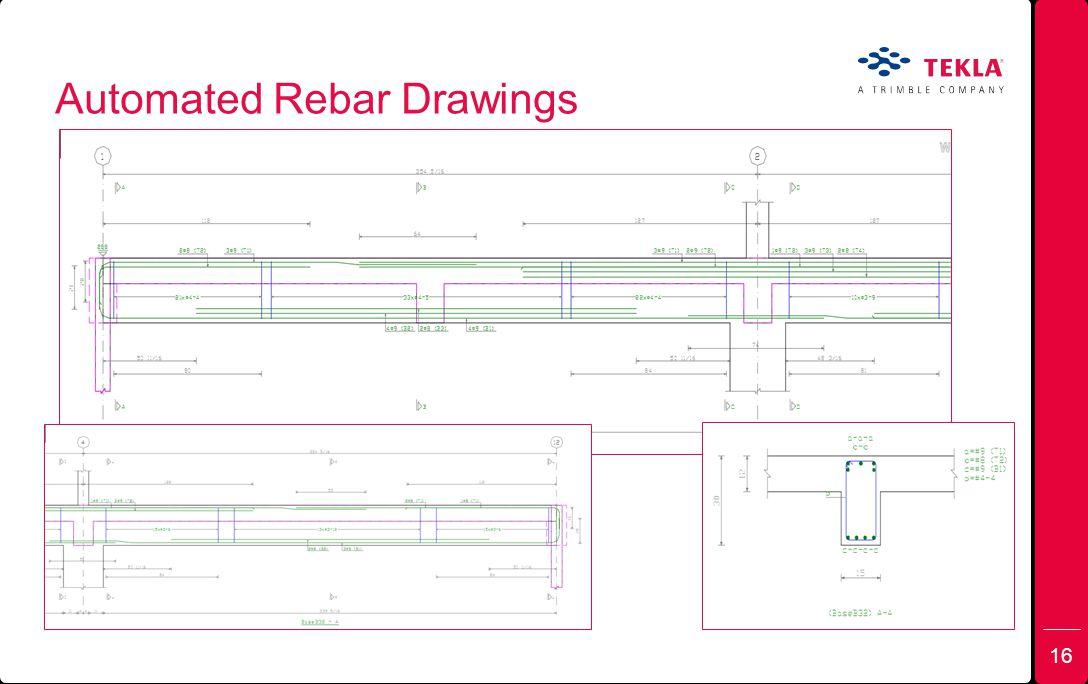Automated Rebar Drawings