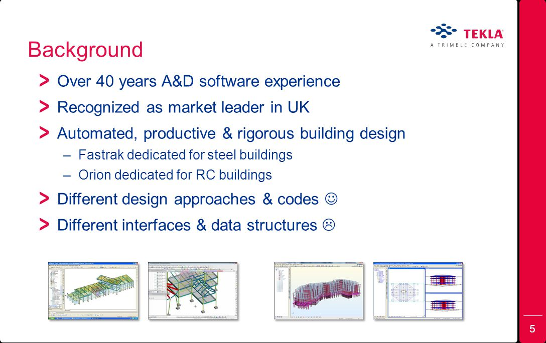 Background Over 40 years A&D software experience