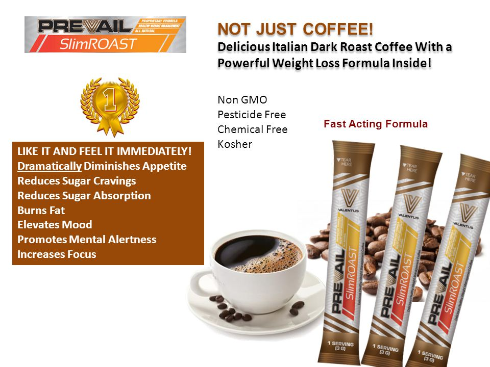 NOT JUST COFFEE! Delicious Italian Dark Roast Coffee With a Powerful Weight Loss Formula Inside! Non GMO Pesticide Free Chemical Free Kosher.