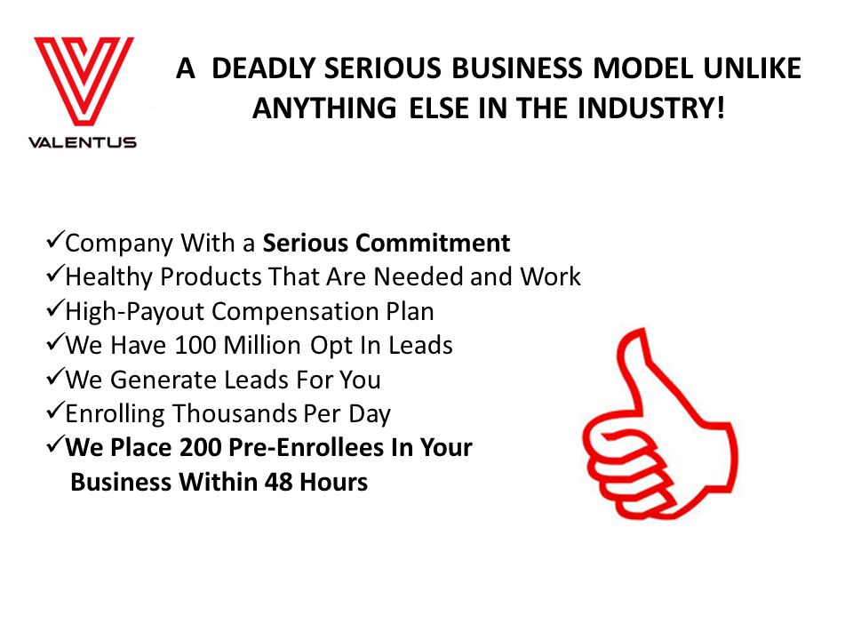 A DEADLY SERIOUS BUSINESS MODEL UNLIKE ANYTHING ELSE IN THE INDUSTRY!