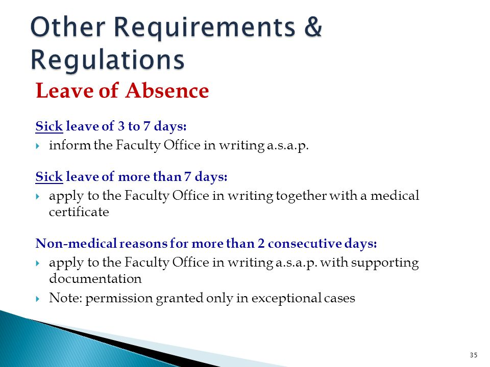 Other Requirements & Regulations