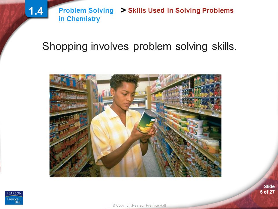 Skills Used in Solving Problems