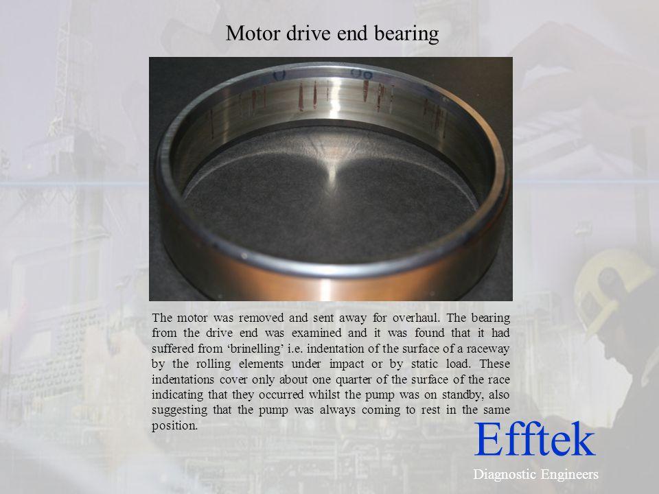 Motor drive end bearing