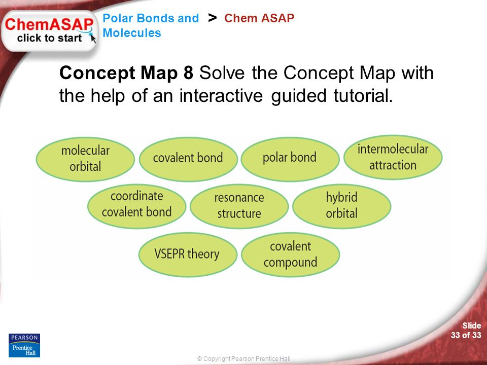 Chem ASAP Concept Map 8 Solve the Concept Map with the help of an interactive guided tutorial.