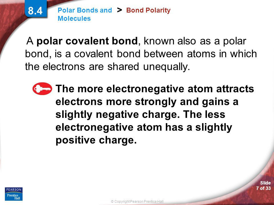 8.4 Bond Polarity.