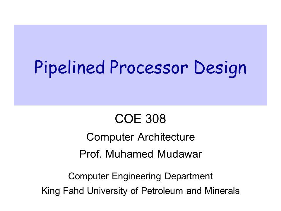 processor design in computer architecture pdf
