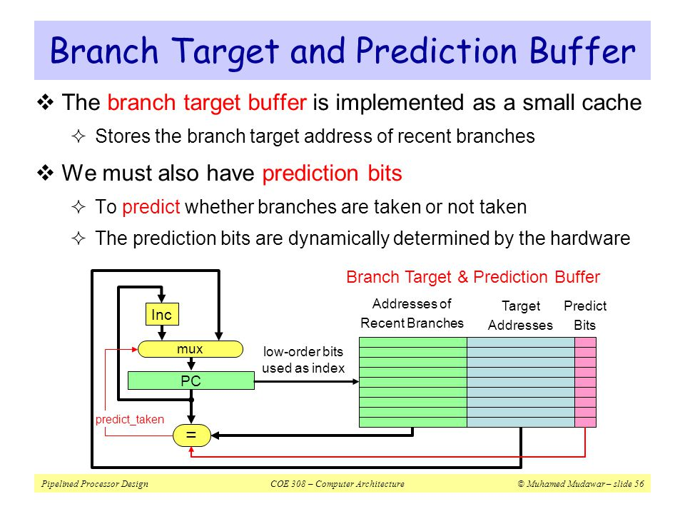 Branch Target and Prediction Buffer