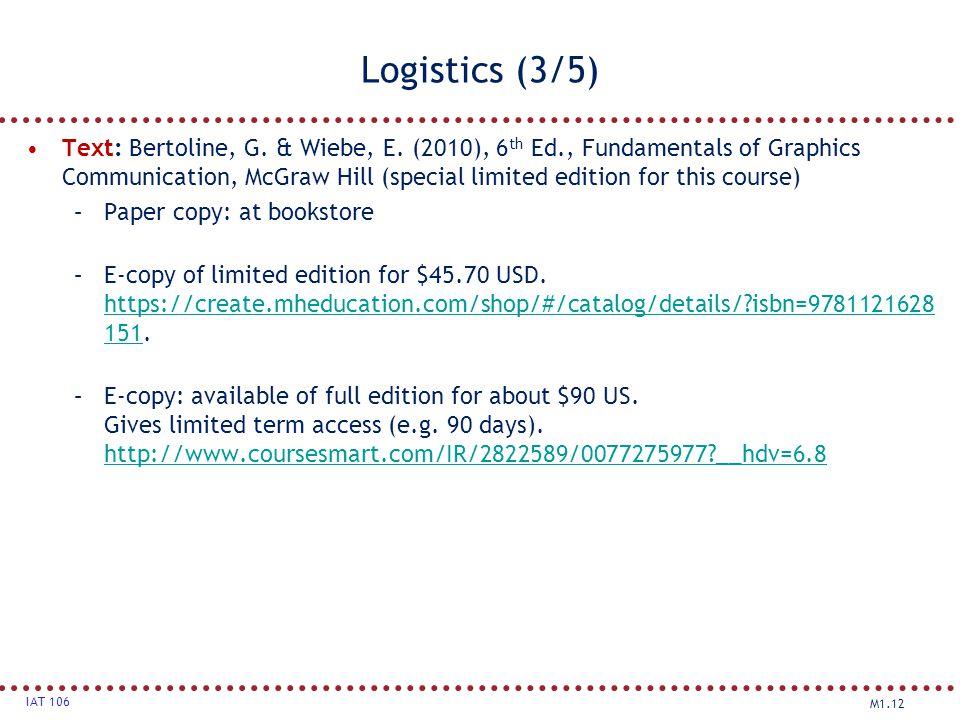 Logistics (3/5)
