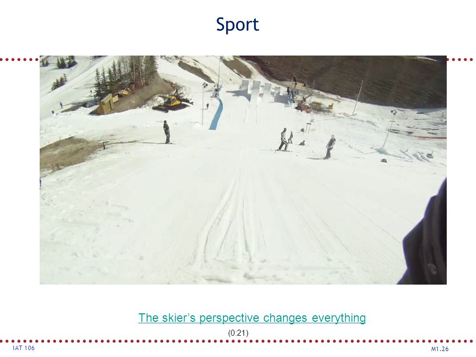 The skier's perspective changes everything