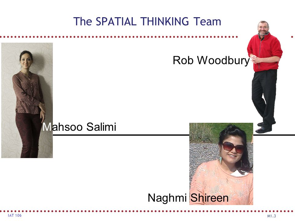 The SPATIAL THINKING Team