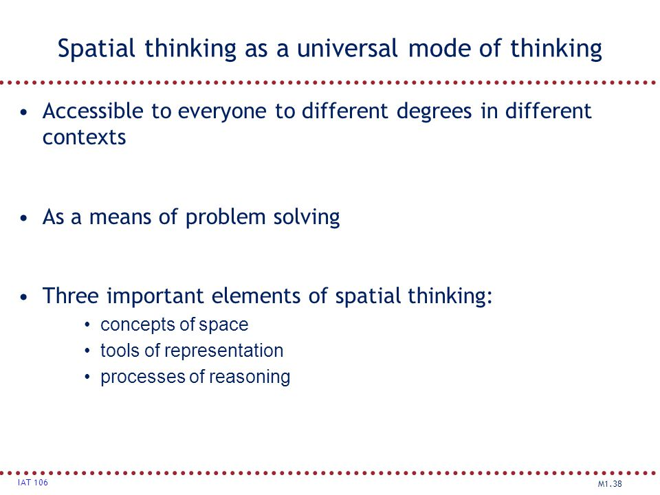 Spatial thinking as a universal mode of thinking