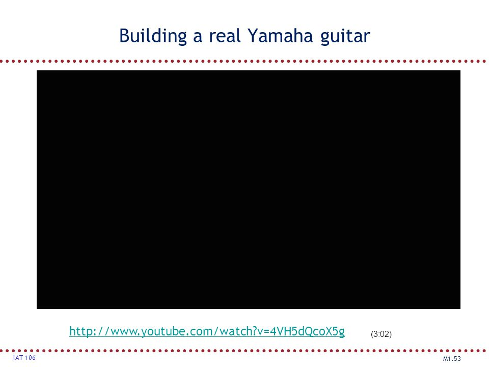 Building a real Yamaha guitar