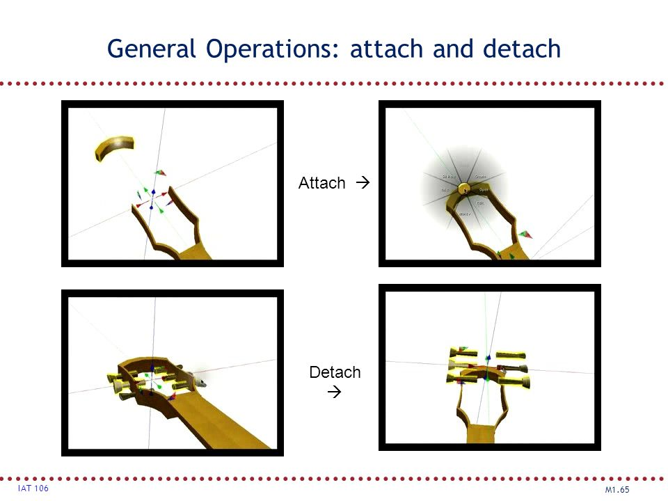 General Operations: attach and detach